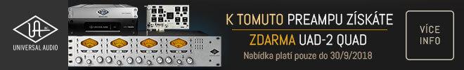 UAD-2 Quad DSP zdarma k analogovému preampu 4-710d od Universal Audio